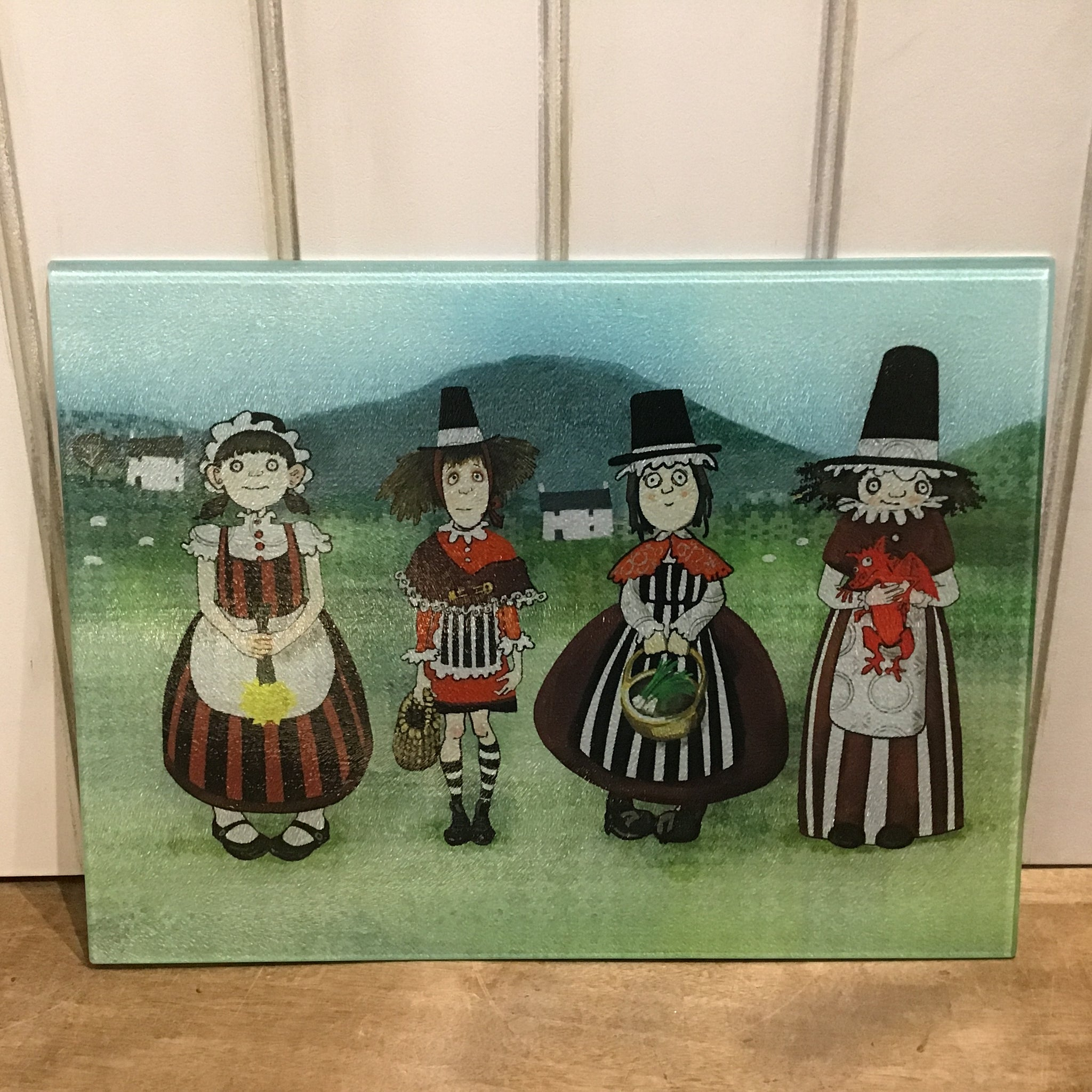 Welsh Ladies Glass Chopping Board sold on behalf of Odwen