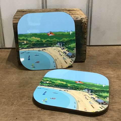 Oxwich Bay Coaster SQ 10cm sold on behalf of Noodle Design (sold singly)