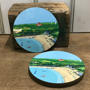 Oxwich Bay Coaster RD 10cm sold on behalf of Noodle Design (sold singly)
