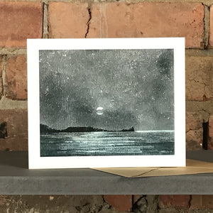 STARLIGHT WORMS HEAD GREETINGS CARD SOLD ON BEHALF OF R N BANNING