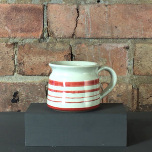 Red Stripe Ceramic Mug