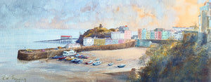 Evening Tenby Harbour Print sold on behalf of R N Banning