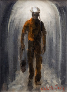 Miner Going Home 24 x 33 cm print Sold on Behalf of Valerie Ganz