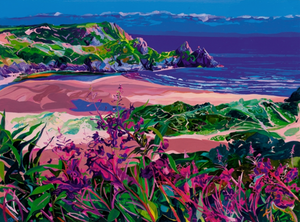 Pink Three Cliffs ltd ed print sold on behalf of Michelle Scragg