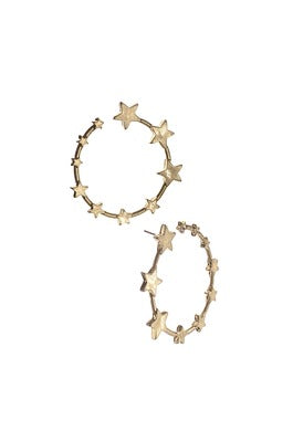 Earrings Ring O Stars