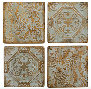 Bronze Tile Coasters Set of 4