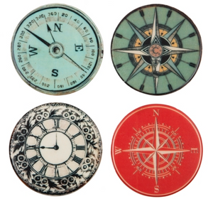 Compass Coasters Set of 4