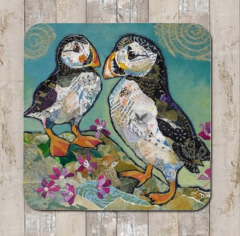 Coaster Puffin Pals by Dawn Maciocia