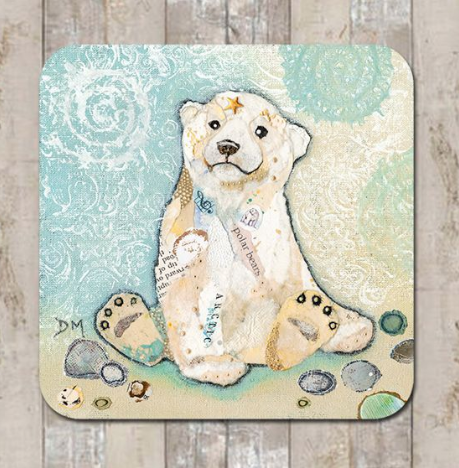 Coaster Hamish Polar Cub by Dawn Maciocia