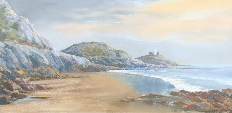Evening Bracelet Bay pastel Ltd Ed Print sold on behalf of R N Banning