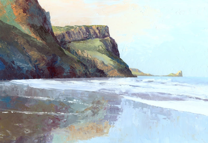 Ebbing Tide Rhossili Print sold on behalf of R N Banning