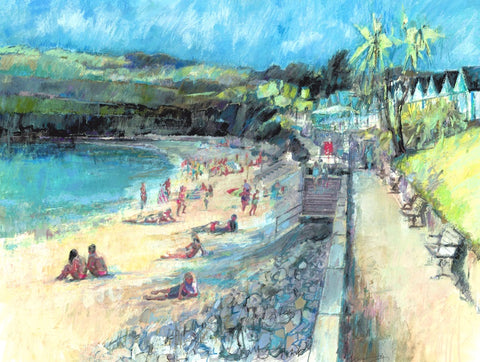 Warm Evening, Langland Limited Edition Print sold on behalf of Arwen Banning