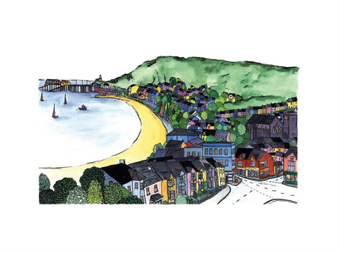 Mumbles ltd ed print sold on behalf of N L Morgan