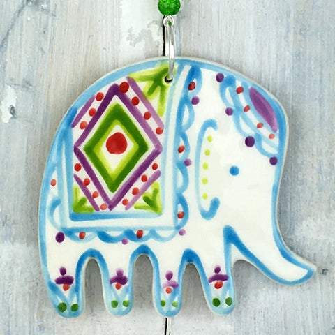 Turquoise Elephant Hanging Decoration