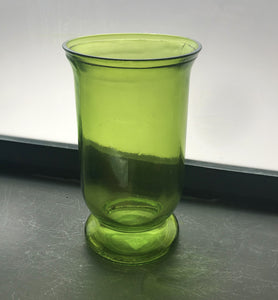 Hurricane vase recycled glass light green 25cm