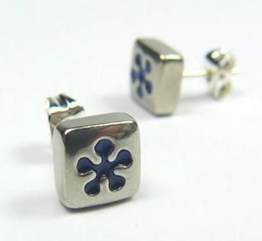 Blue Daisy Earstuds sold on behalf of Koa Jewellery