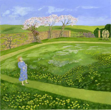 Listening To The Lark mounted 42 x 42 cm Sold on behalf of Ellie Ling