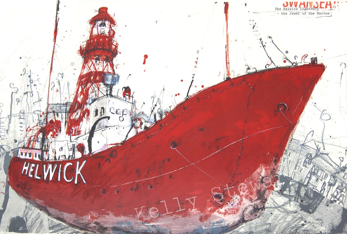 The Helwick screen print sold on behalf of Kelly Stewart