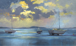 November Mumbles Moorings Ltd Ed Print sold on behalf of R N Banning