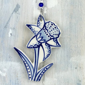 Blue Daffodil Decoration
