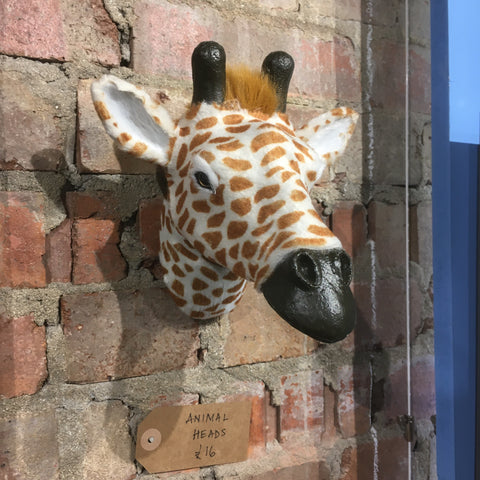 Faux Fur Giraffe Head Plaque