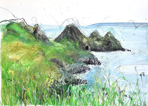 Springtime on Three Cliffs Bay Original sold on behalf of Kelly Stewart