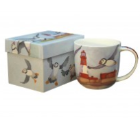 Lighthouses Bone China Mug Boxed by Emma Ball