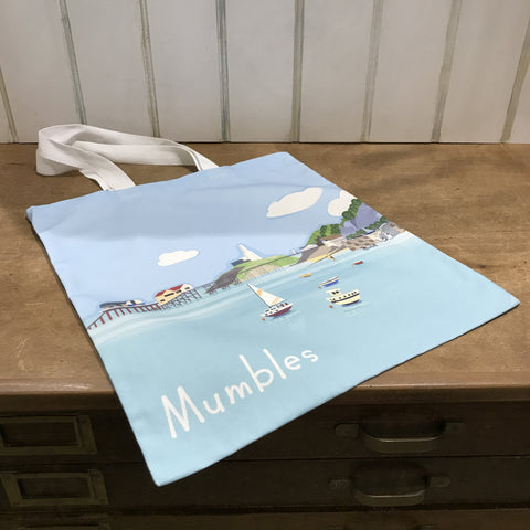 Mumbles Headland Shopper 100% Cotton sold on behalf of Noodle Design