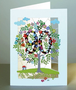 Age 90 Tree Greetings Card