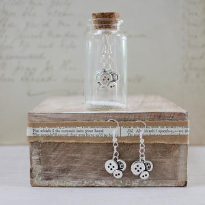 Earrings in a bottle buttons by Zamsoe