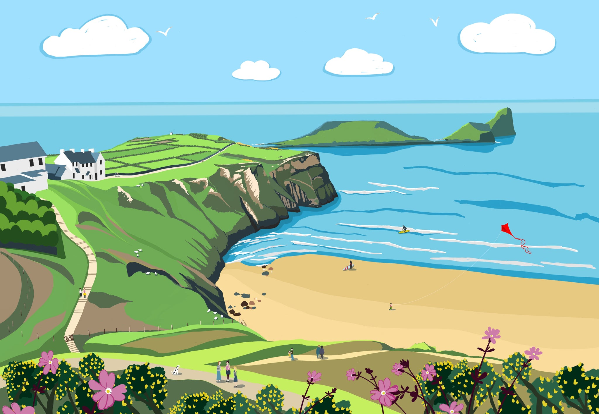 Worms Head Giclee Print sold on behalf of Noodle Design
