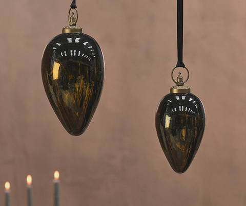 Danoa Giant Bauble Drop - Aged Amber and Black