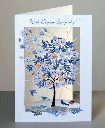 Deepest Sympathy Tree Greetings Card