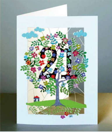 Age 21 Tree Greetings Card
