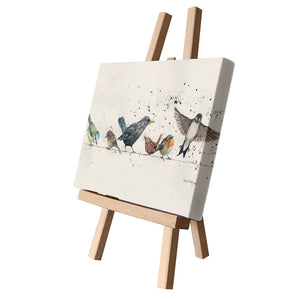 Birds on a Wire Canvas Cutie 15x20cm by Bree Merryn
