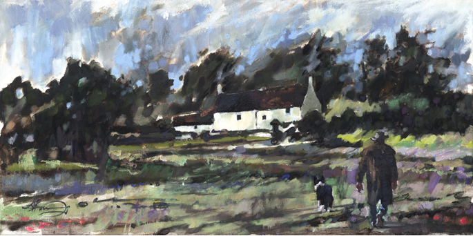 Home Across the field for Breakfast Ltd Ed Print sold on behalf of Arwen Banning