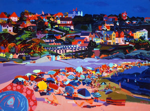 Pink Sands Langland ltd ed print sold on behalf of Michelle Scragg