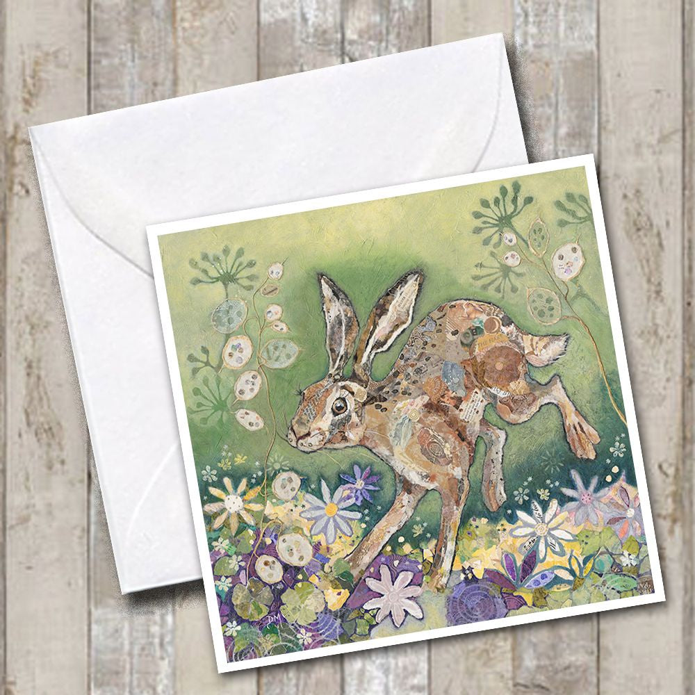Honesty Hare Greetings Card
