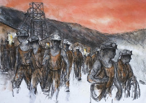 Tower Men Leaving 47 x 66 cm print Sold on Behalf of Valerie Ganz