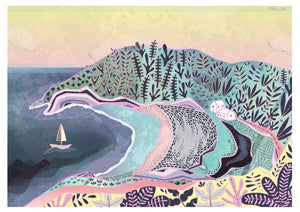 Pwll Du Gower print sold on behalf of Hannah Davies