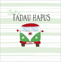 Sul y tadau hapus welsh campervan Happy Fathers Day