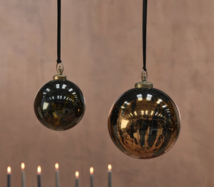 Danoa Giant Bauble Round - Aged Amber and Black