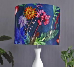 Indigo Tropical Lampshade