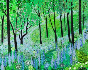 Bluebell Woodland Card by Katie Allen