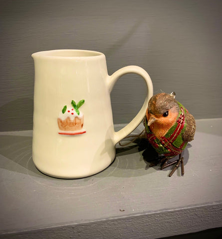 Ceramic Mini Jug with Plum Pudding