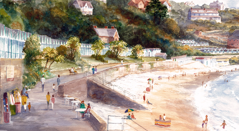A Summers Day Langland Ltd Ed Print sold on behalf of R N Banning