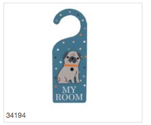 Dog Wood My Room Door Hanger