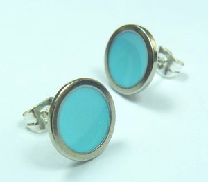 Bright Sky Earstuds Turquoise sold on behalf of Koa Jewellery
