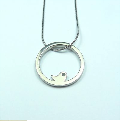 Baby Bird Large Snake Chain Necklace sold on behalf of Koa Jewellery