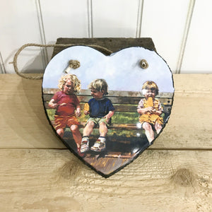 Lolly time Hanging Heart Slate 20x20cm sold on behalf of Arwen Banning